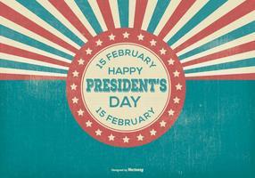Illustration rétros des jours des présidents vecteur