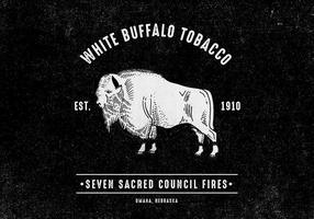 Rétro Buffalo Design vecteur
