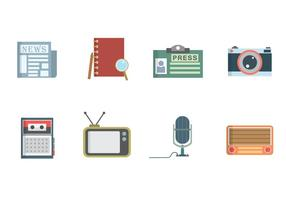 Nouvelles gratuites et vecteurs journalistiques vecteur