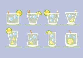 Cocktail caipirinha vecteur