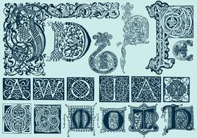 Lettres capitales celtes vecteur
