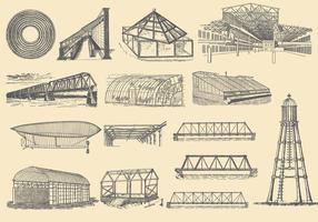 Structures de fer vecteur