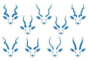 Kudu horn vector stock