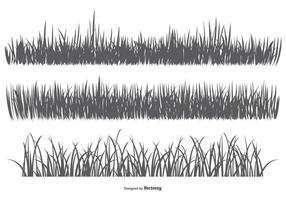 Silhouettes d'herbes vectorielles vecteur