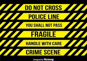 Collection de bandes de police
