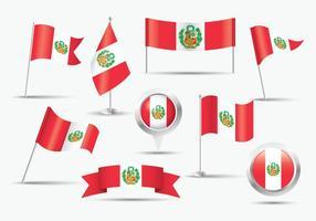 Drapeau Pérou gratuit vecteur