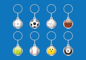 Porte-clés Ball vecteur