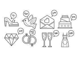 Vecteur icône de mariage gratuit