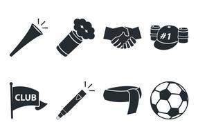 Icône de fan de football vecteur