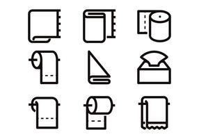 Vecteurs d'icônes de ligne de papier toilette