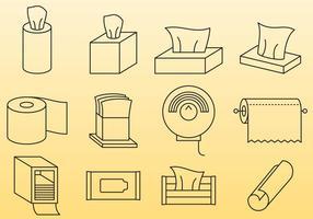 Lingettes et serviettes en papier vecteur