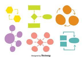 Vector de carte d'esprit coloré