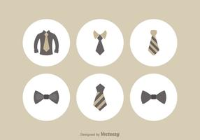 Ensemble d'icônes vectorielles Cravat gratuit