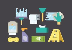 Vecteur de fournitures de nettoyage gratuit