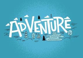 Conception de paysage d'aventure vecteur