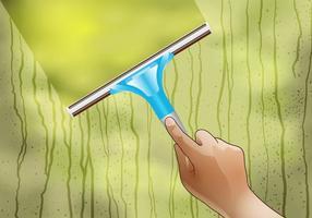 Vecteur de nettoyage de vitres