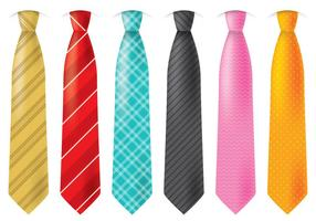 Cravates colorées vecteur