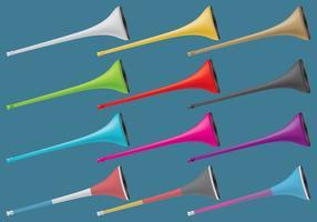 Vuvuzelas coloré vecteur