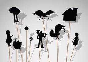 Icônes gratuites de marionnettes d'ombre vecteur