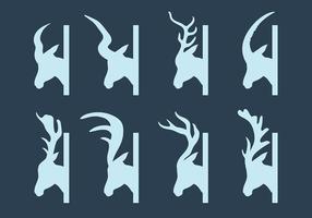 Vecteur gratuit d'icônes de Kudu