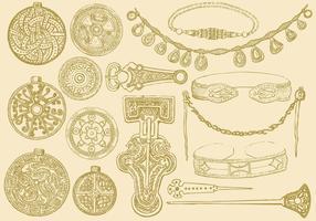 Bijoux celtiques vecteur