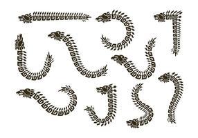 Quetzalcoatl silhouette vecteurs