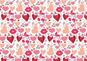 Fond libre de doodle d'amour de vecteur gratuit