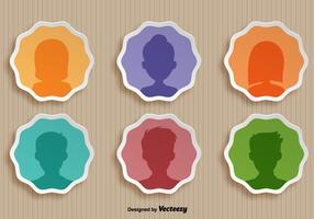 Ensemble vectoriel d'icônes personnelles