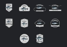 Ensemble d'icônes de maquereau vecteur