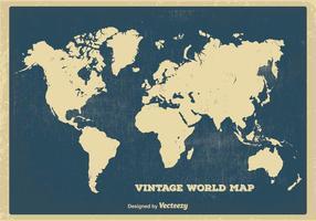 Carte du Monde Vintage vecteur