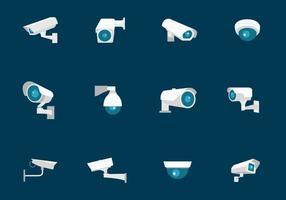 Caméra de sécurité CCTV vecteur