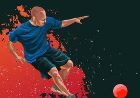 Vecteur joueur action dodgeball