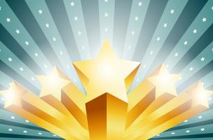 Vector 3D Stars Fond