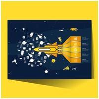 infographie de couleur jaune