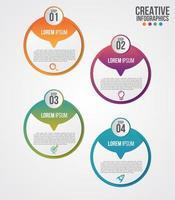 conception infographique moderne de chronologie pour les entreprises en 4 étapes vecteur