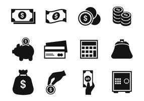 Vecteur d'icônes d'argent gratuit