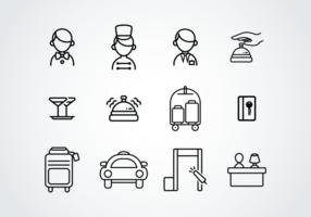Icônes de pictogramme de concierge