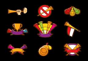 Vuvuzela trompette vecteur