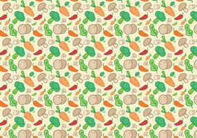 Vecteur de motifs de légumes