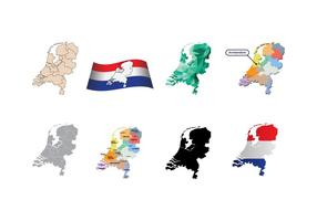 Vecteur de carte gratuit des Pays-Bas