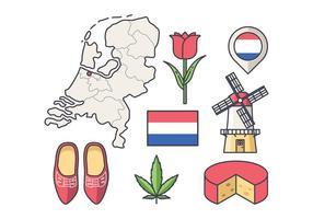 Vecteur libre des Pays-Bas