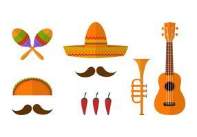 Ensemble vectoriel icône mariachi