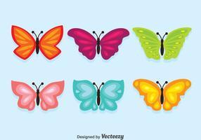Vecteur coloré de collection de papillons