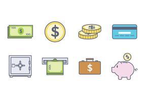 Icône de l'argent gratuit vecteur