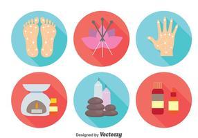 Vecteur d'icônes de médecine alternative