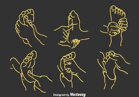 Vector de réflexologie des pieds