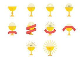 Icône de l'eucharistie vecteur