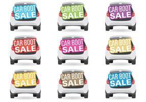 Titres de vente de bottes de voiture vecteur