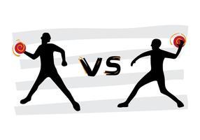 Affiche de vecteur de tournoi gratuit Dodgeball VS