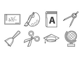 Vector d'icônes d'éducation gratuite